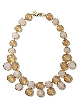 Love the tone on tone stones in this necklace from Banana Republic!