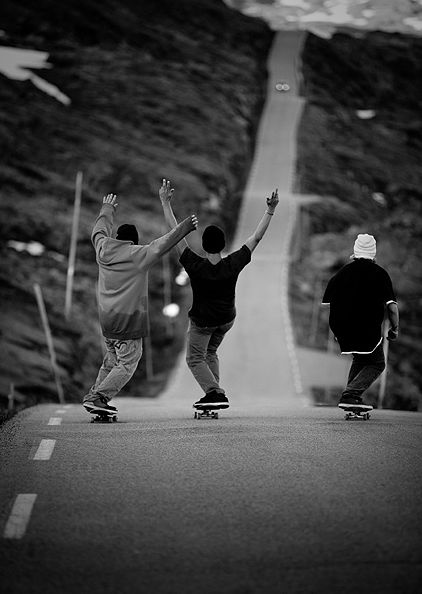 Skating around the city day in and day out with my friends. The best memories. I still skate but it's usually alone and not near as often. Damn I miss those days...