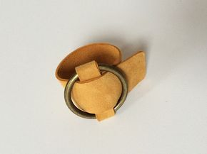 It doesn't take longer than 15 minutes once you have your supplies. Let's get started with this easy DIY Celine brass and suede bracelet...