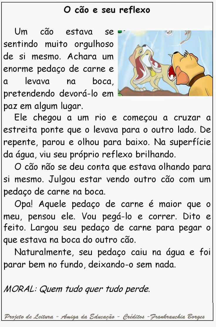 Atividade de leitura, interpretação. Projeto de leitura. Prática de leitura. Língua Portuguesa, Produção textual.   Texto O cão ...