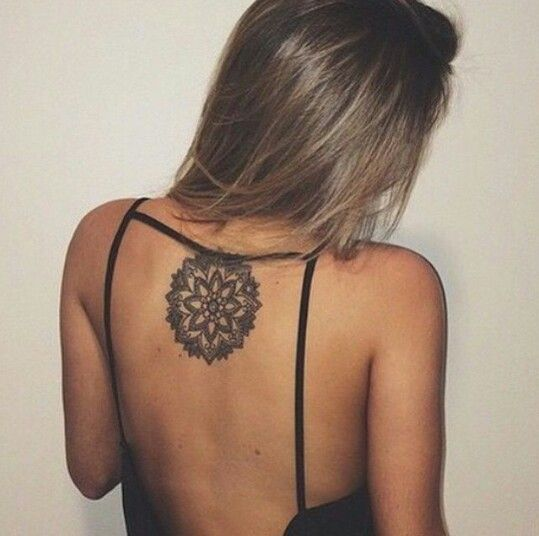 Mandala back tattoo for women - 40 Intricate Mandala Tattoo Designs  <3 <3