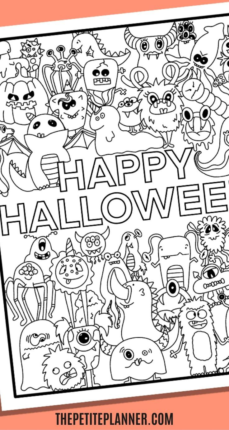 31 Free Halloween Coloring Pages For Adults Kids Download Now Free Halloween Coloring Pages Halloween Coloring Halloween Coloring Pages