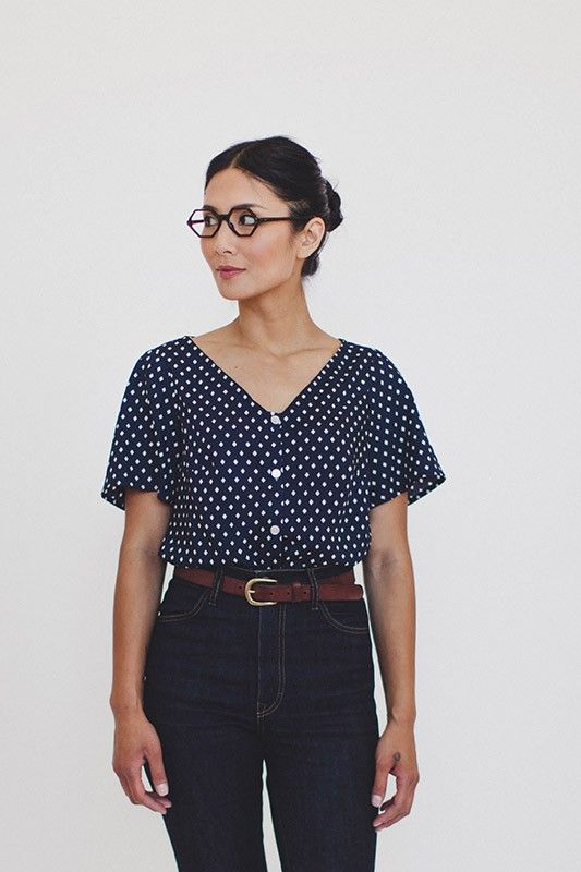 Colette Sewing Pattern - Aster Blouses   Ray Stitch