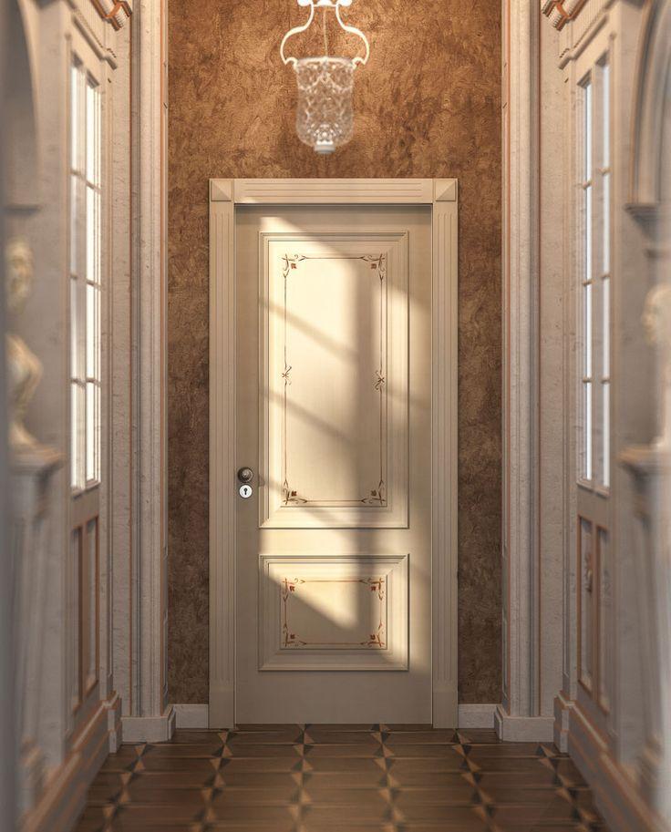 FBP porte | Collezione Lady: Mod. Lady 2 Colore: laccato anticato coloniale #porte #legno #interno #wooden #door #madeinitaly #baroccostyle