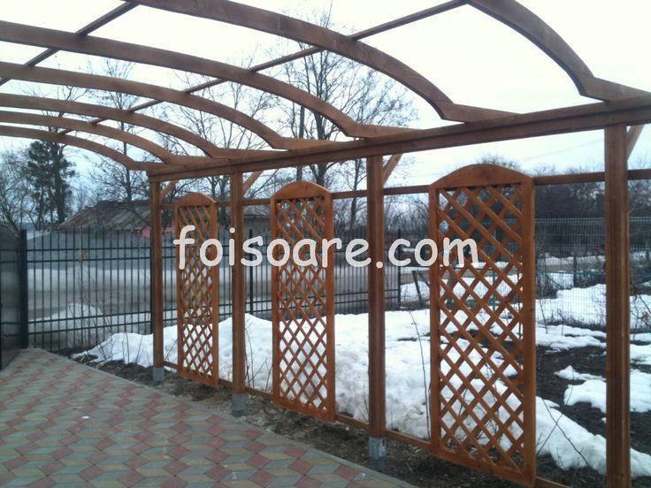 Pergole lemn cu arcada pentru intrare in curte