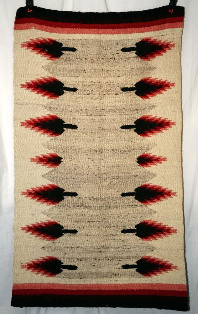 Vintage Native American Navajo Woven Rug Wall Hanging Or