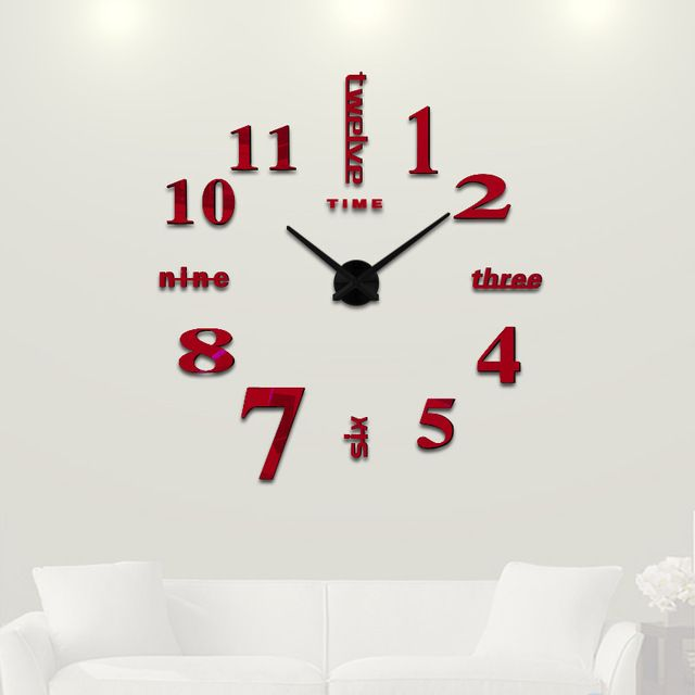 Wall Clock Designs For Home : Best mirror wall clock ideas on