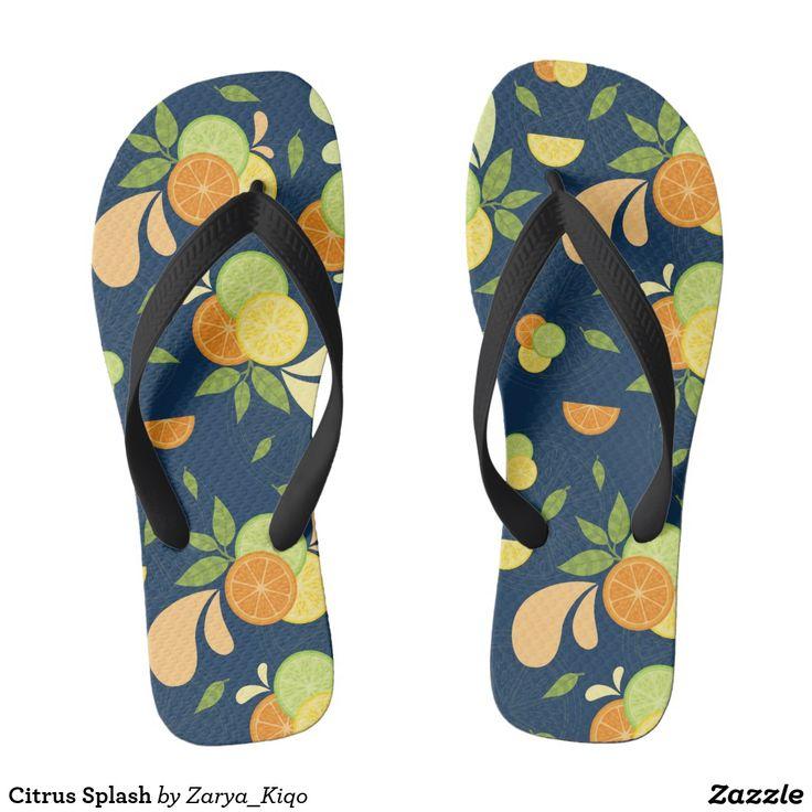 Citrus Splash  - a citrus inspired pattern in flip flops