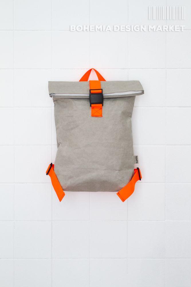 #eco #vegan #grey #handmade #backpack #original #local #design
