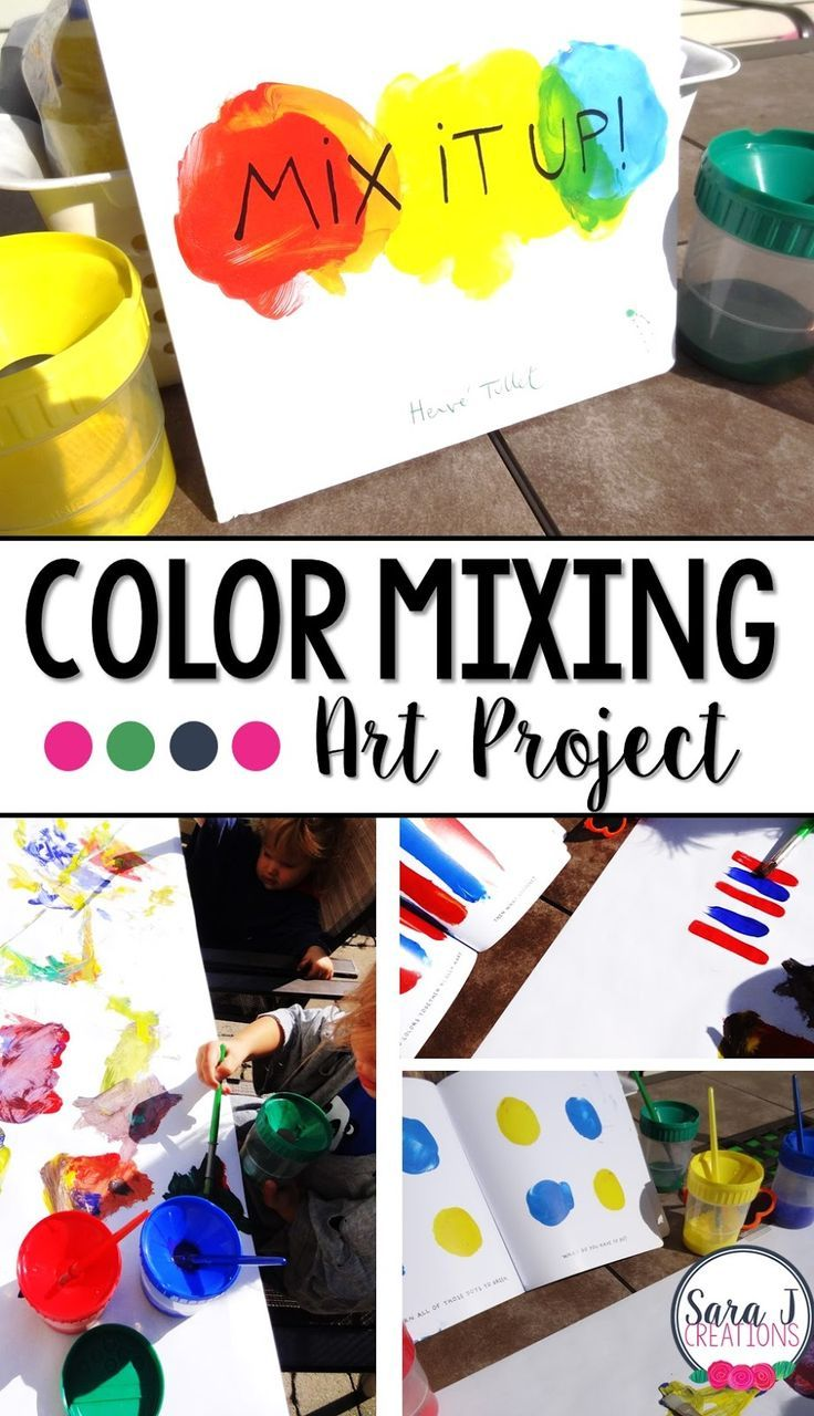 Learning colors art activities for preschool - Color And Shape Art Project With Mix It Up