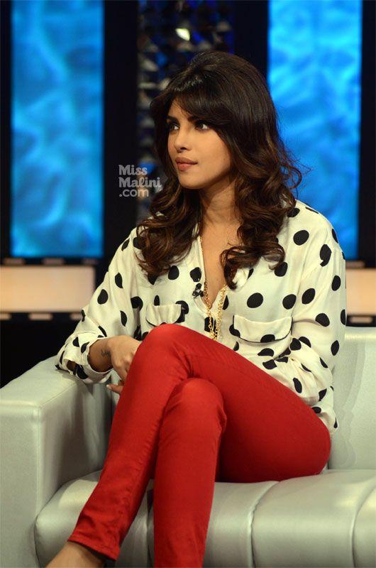 via missmalini.com, Pretty in Polka, Priyanka Chopra
