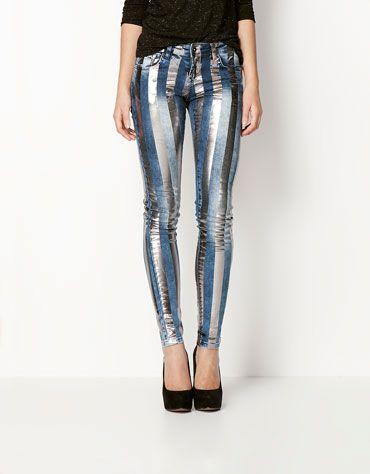 Bershka Holland - Gestreepte jeans BSK