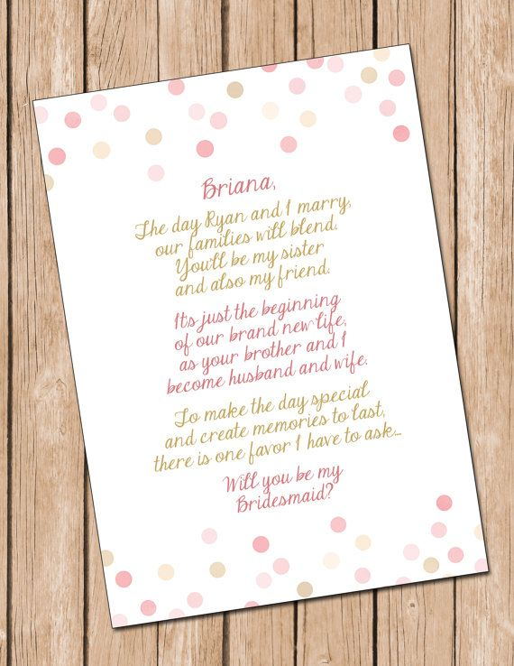 Will You Be My Bridesmaid Sister In Law Card Bridesmaid by DaxyLuu