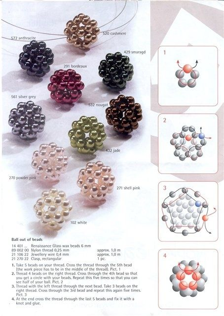Basic Beaded Ball Bead PATTERN