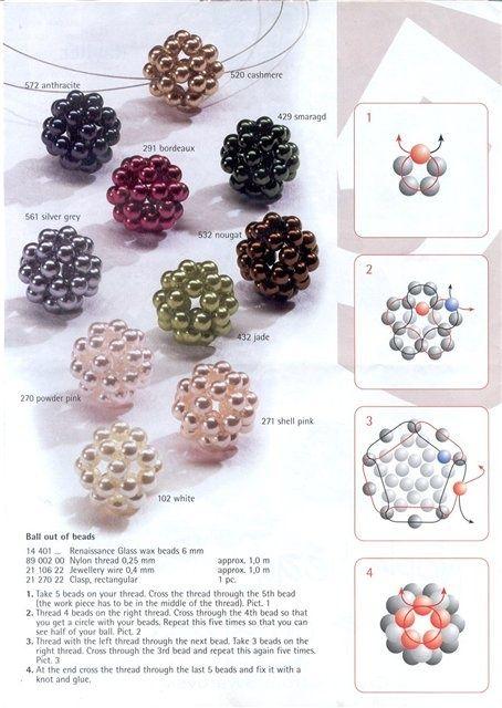 Basic Beaded Ball Bead PATTERN