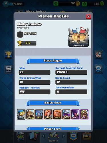 Clash Royale Profile & Avatar: screenshots, UI