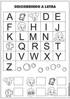 Atividade Alfabeto Sondagem Volta às Aulas Bubble Guppies