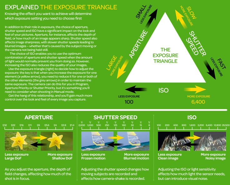 The Exposure Triangle Visualised: Cheat Sheet #photography #phototips http://digital-photography-school.com/the-exposure-triangle-visualised-cheat-sheet/