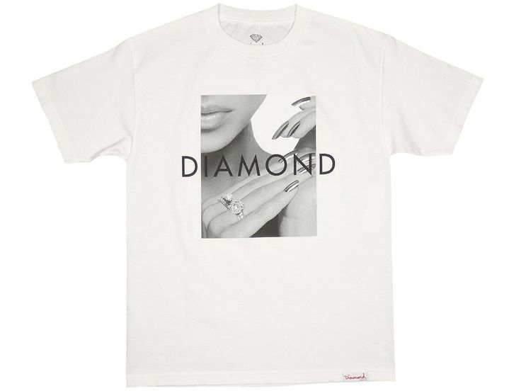 Diamond Supply Co Ring Girl Tee White