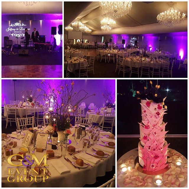 Our lighting designers have been busy creating something special for Jeffery & Leanne's wedding tonight at Victoria Park Golf Complex :purple_heart::purple_heart: #gmeventgroup #weddinglighting #lightingdesign #purple #uplighting #moodlighting #monogramli