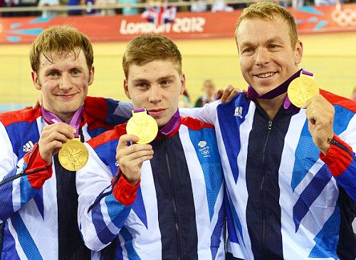 Team GB Medals 2012  12. Men's Cycling Sprint Team (Jason Kenny, Philip Hindes and Sir Chris Hoy) - GOLD  (Cycling, Track: Men's Team Sprint)