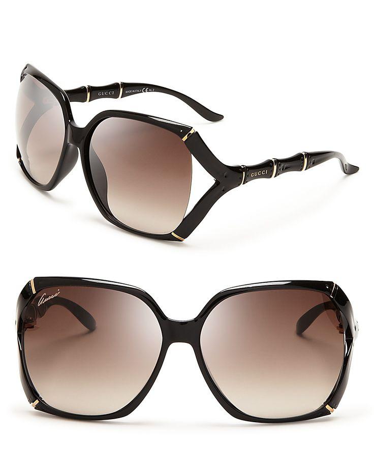 18830ce5d63 Gucci Oversized Rimless Shield Sunglasses
