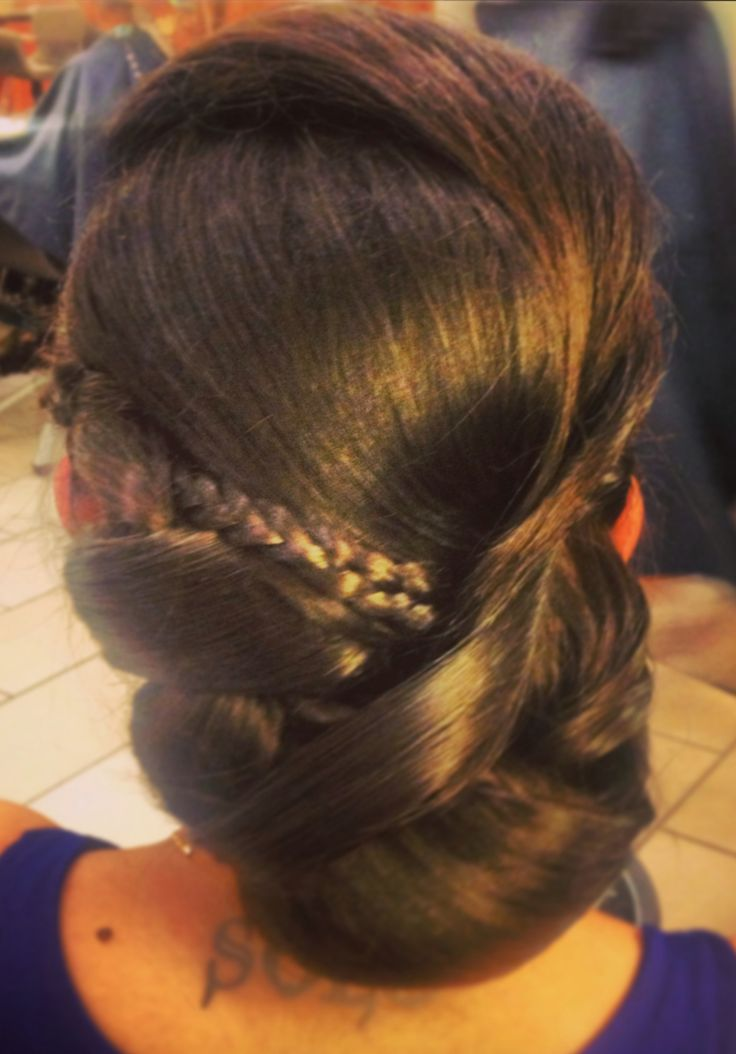 A classic Bridal Hair Style, with a few twists and a lot of detail.  #hair #hairstyle #bridalhair #wedding  www.donato.ca