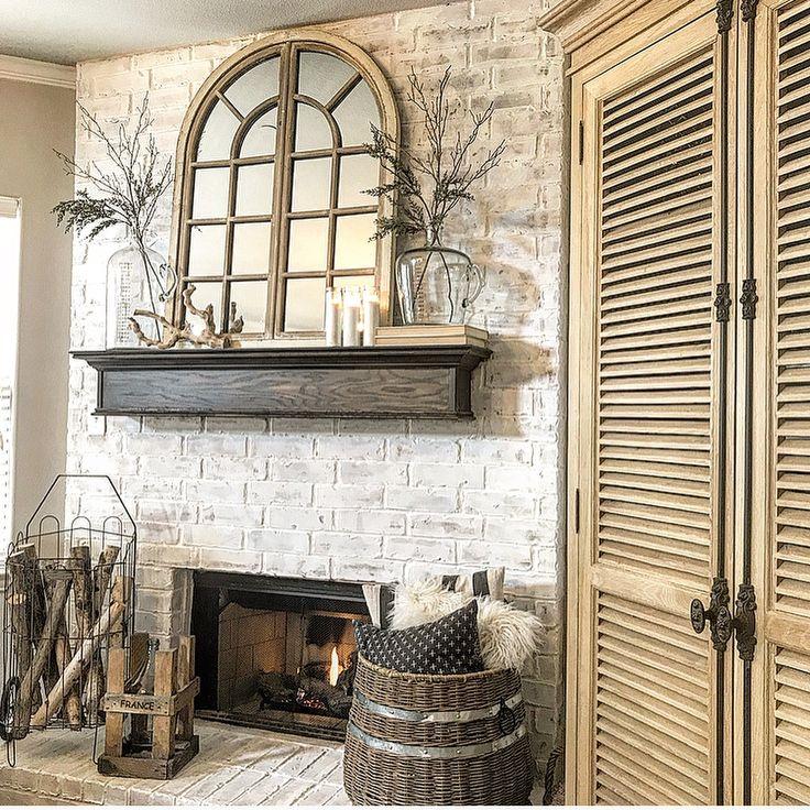 Neutral Mantle Decor With A Vintage Farmhouse Feel Arch