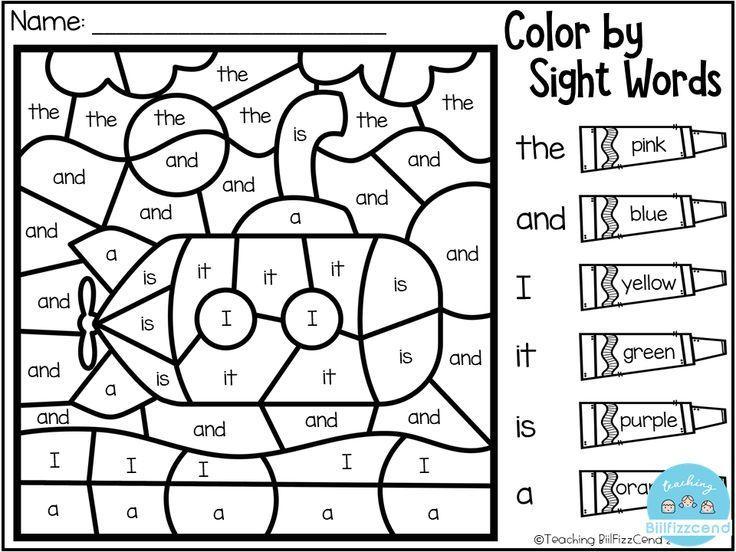 Free Kindergarten Color By Code