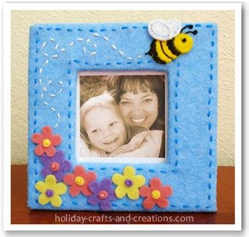 Homemade Mothers Day Gifts: Bumble Bee Frame