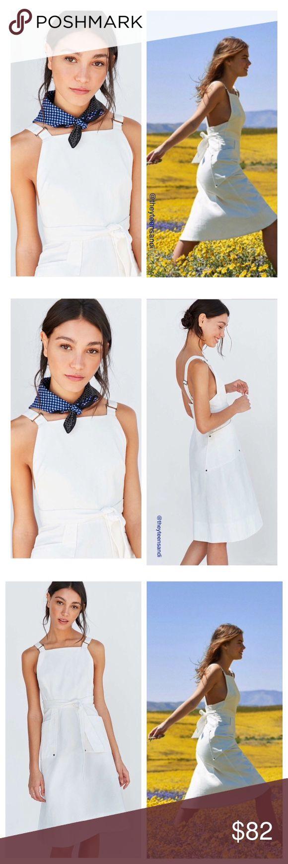 White denim apron - Urban Outfitters White Denim Overalls Apron Dress Nwt