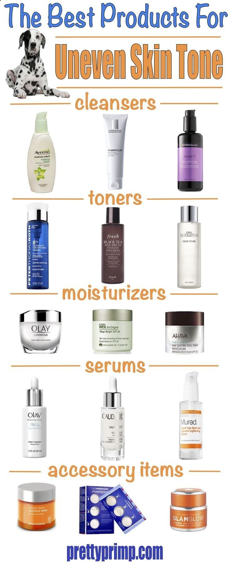 The Best Products For Uneven Skin Tone And Dark Spots On The Face Want To Know How To Get Rid Of Discolor Uneven Skin Tone Uneven Skin Natural Skin Lightening