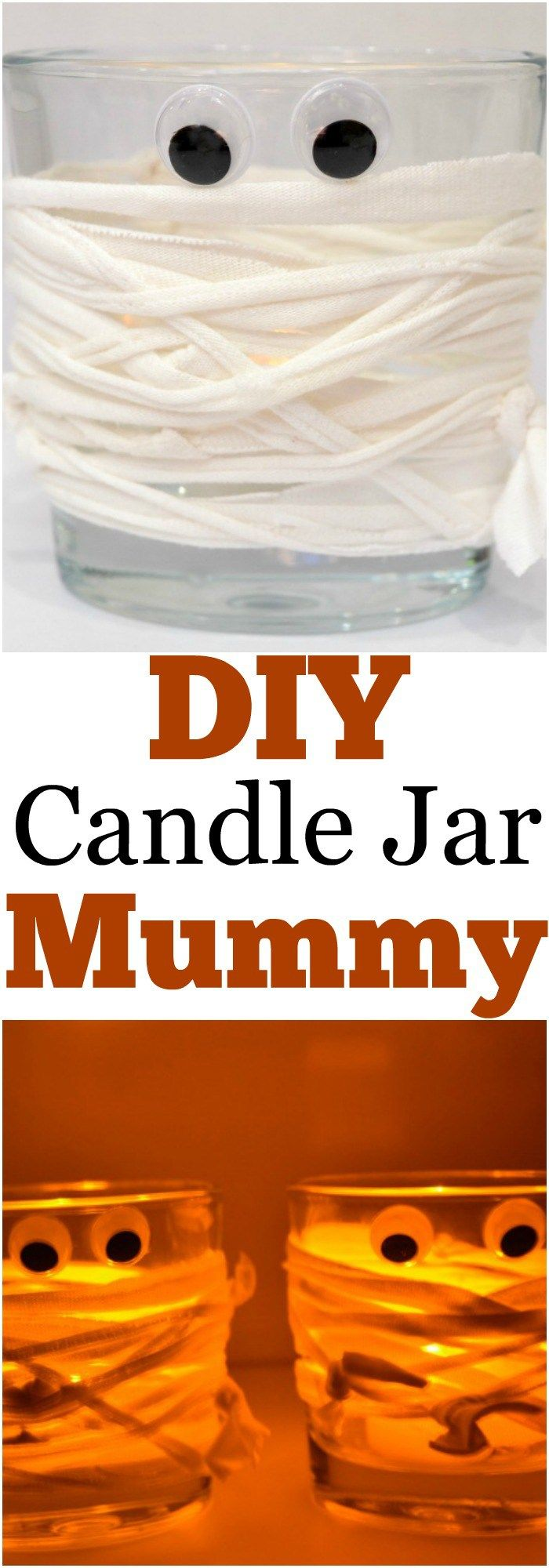 halloween mummy candle jar - Affordable Halloween Decorations