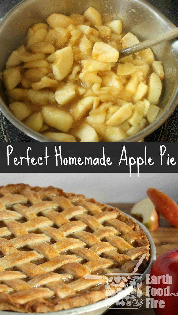 Who doesn't love a good apple pie!? With a beautiful lattice top, this homemade apple pie recipe is great for beginners. via @earthfoodfire