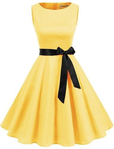 1fcf32ea905 Women s Audrey Hepburn Rockabilly Vintage Dress 1950s Retro Cocktail Swing  Party Dress