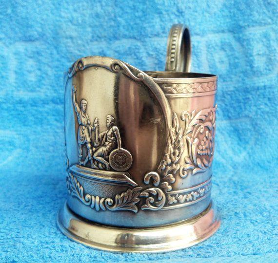 Soviet tea cup holder Minin and Pozharsky от ArtVintageAntique