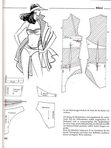 Bikini, patterns instructions