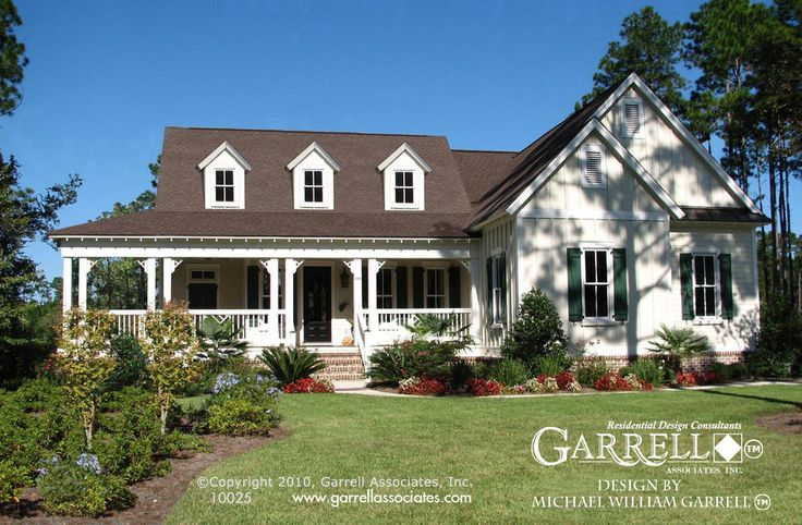Mark Harbor House Plan 10025, Front Elevation, Covered Porch House Plans, really like.  Can afford another 600-800 feet