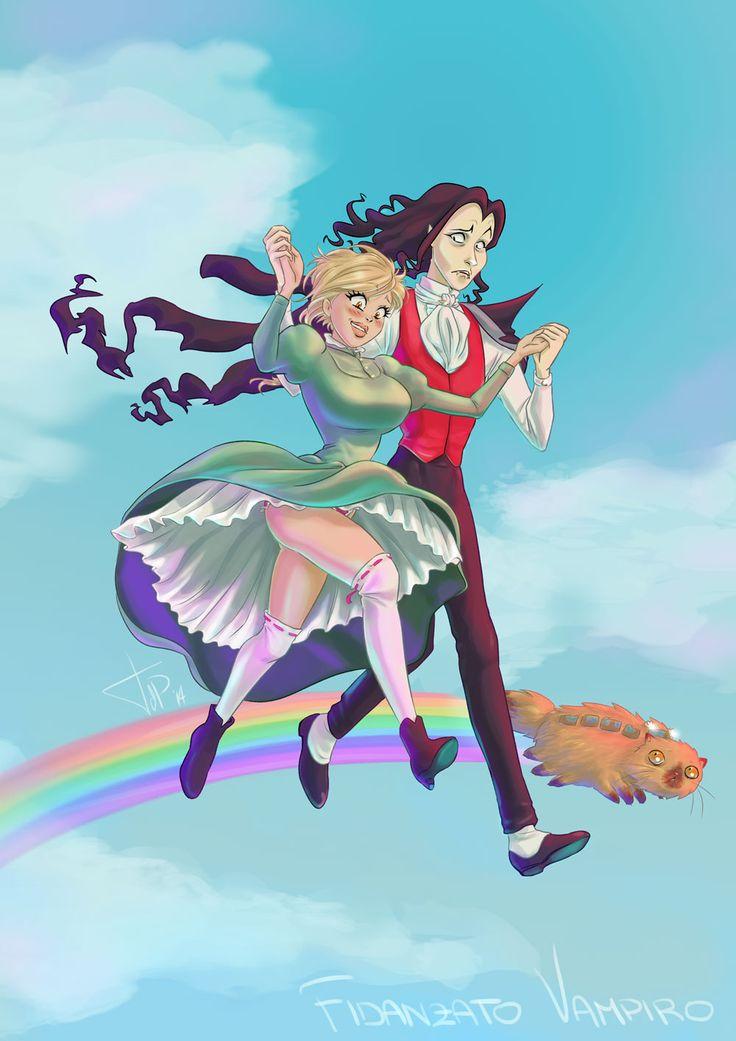 Un what if di Fidanzato Vampiro in pseudo stile Ghibli  what if Dating a vampre was a Ghibli movie...