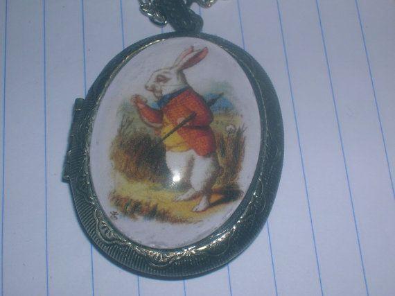 white rabbit locket