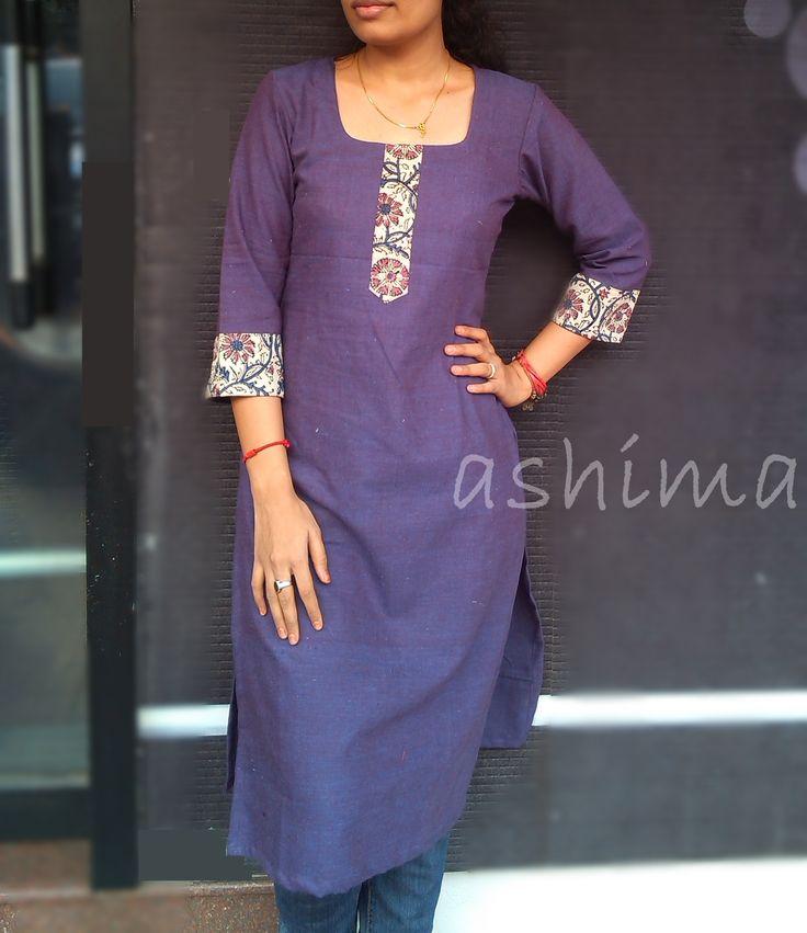 Code:1803160-Khadi Cotton Kurta- Price INR:890/-