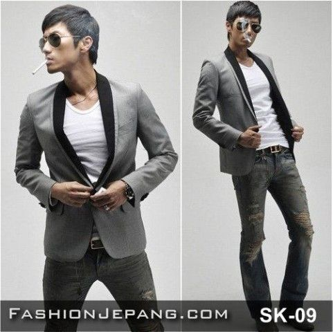 Jual Jaket, Jaket korea, fashion cowok, jogja, Blazer Jaket Korea SK-09
