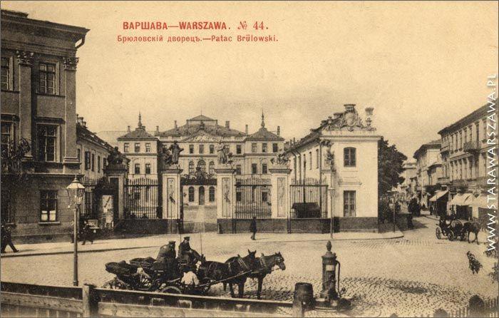 Palac Bruhla, 1642, proj. Tylman z Gameren, dla Jerzego Ossolińskiego, przy ul. Wierzbowa 1, rokoko, wysadzony w 1944, nie odbudowany