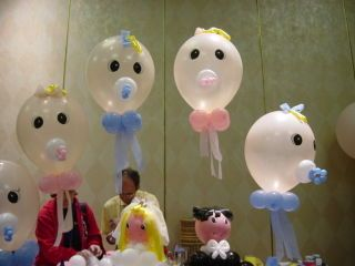 Baby+Balloon+Sculptures | Miami: Balloon Art and Babies, Baby Showers and Newborn Baby Balloons