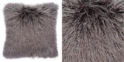 "Mongolian Fur Pillow Cover – Magnet, 18"" x 18"""