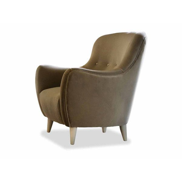 Dom Edizioni Armchair Marie fabric Small armchair with not removable cover