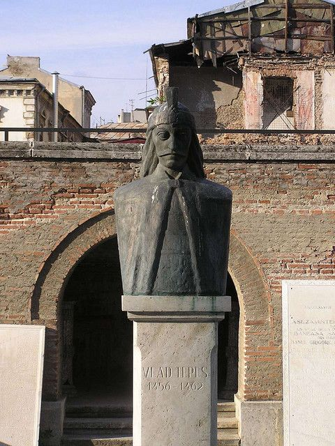 Dracula (Vlad Tepes) sculpture, Romania, This statue of the famous Dracula or Vlad III is located downtown Bucharest