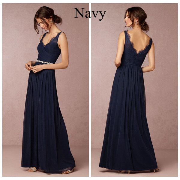 I found some amazing stuff, open it to learn more! Don't wait:http://m.dhgate.com/product/navy-blue-chiffon-bridesmaid-dresses-long/247842088.html