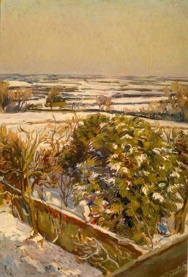 Snow at Charleston, East Sussex by Duncan Grant. #bloomsburygroup