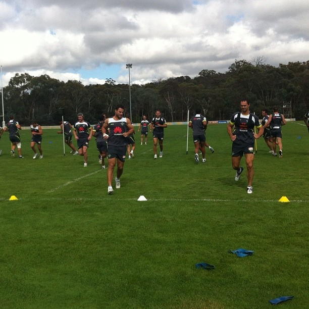 Captains training run at Raiders HQ before Mounties/Wyong trial - Canberra Raiders